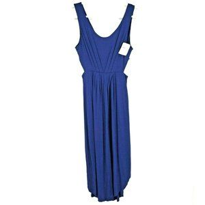 NWT Lush Pleated Maxi Dress Open Sides Size M